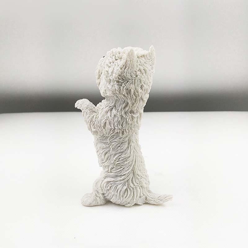 Mnotht 1/6 West Highland Terrier Perro Animal Postura Modelo de - Figuritas de juguete - foto 4