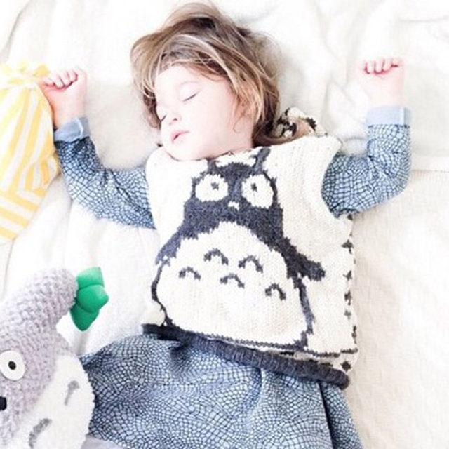 Online Shop Autumn Children Bobo Totoro Knitting Sweaters Vest Baby