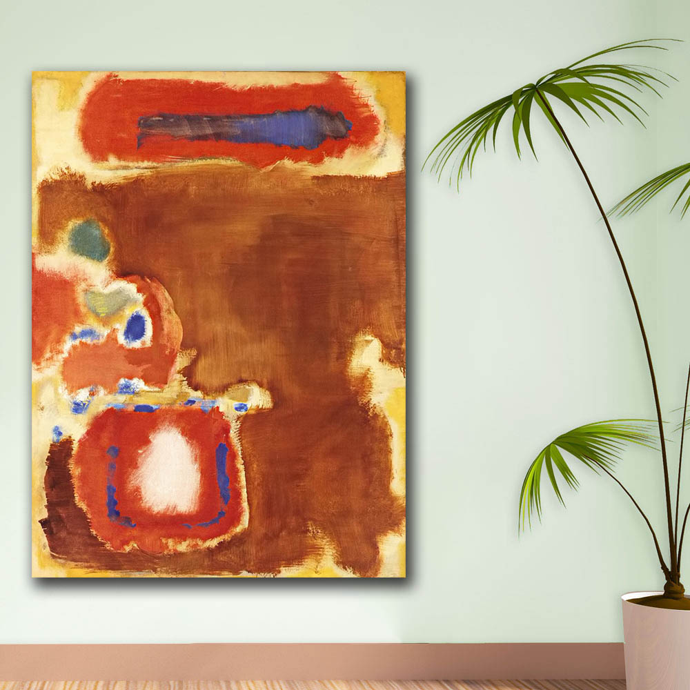 For Living Room Abstract Oil Painting Mark Rothko Untitled Canvas wall art on canvas Home Decor Modern No Frame Oil Painting in Painting Calligraphy from Home Garden