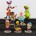 7 pçs/set Jake e Os Piratas Do Neverland Figura de Ação Brinquedos Jake Piratas do Caribe Pirata Anime Toy Figuras Meninos brinquedo