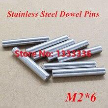 200 шт./лот m2* 6 gb119 Нержавеющая сталь Дюбеля Шпильки/цилиндр Булавки диаметром 2 мм
