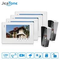 JeaTone NEW 7 Inch LCD TFT Color Video Door Phone Intercom System 1200TVL Outdoor Pinhole Camera