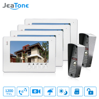 JeaTone NEW 7 Inch LCD TFT Color Video Door Phone Intercom System 1200TVL Outdoor Pinhole Camera