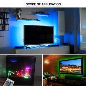 Image 4 - LED תחת קבינט אור לבן/חם לבן RGB USB LED רצועת מטבח ארון לילה אור מרחוק בית מלתחת LED דיודה קלטת luz A1