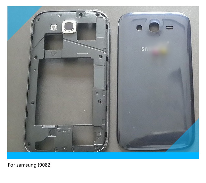 Original For Samsung GALAXY Grand DUOS I9082 housing set Cover  Middle Frame +Back housing Complete Replacement