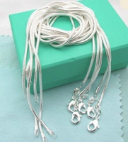 CN1 1mm Snake Chain Necklace Wholesale Lots 5 Pcs 925 Sterling Silver Jewelry Necklaces Fashion Jewelry