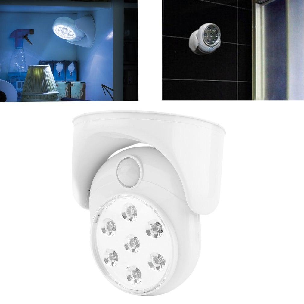 7LED Rotation Activé Par le Mouvement Nuit de Capteur de Lumière Automatique Infrarouge Mur Lampe P20
