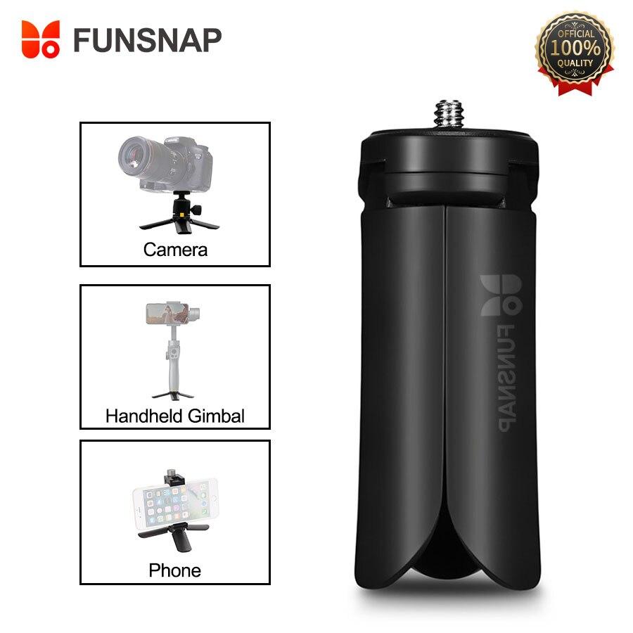 Trípode Funsnap para teléfono Smartphone trípode de cámara soporte cardán para Zhiyun Smooth 4 cámara Gopro 7 6 5 4 Mini trípodes