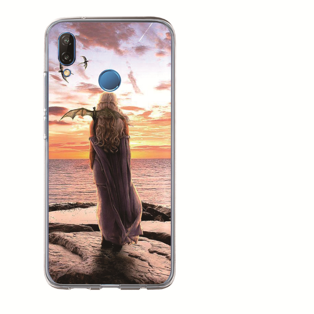 For Huawei Honor 10 Lite 9 8 7A 7C 7X 7 6A Coque Daenerys Dragon Jon Snow Tyrion Lannister Funda Game Thrones Phone Case Etui in Fitted Cases from Cellphones Telecommunications