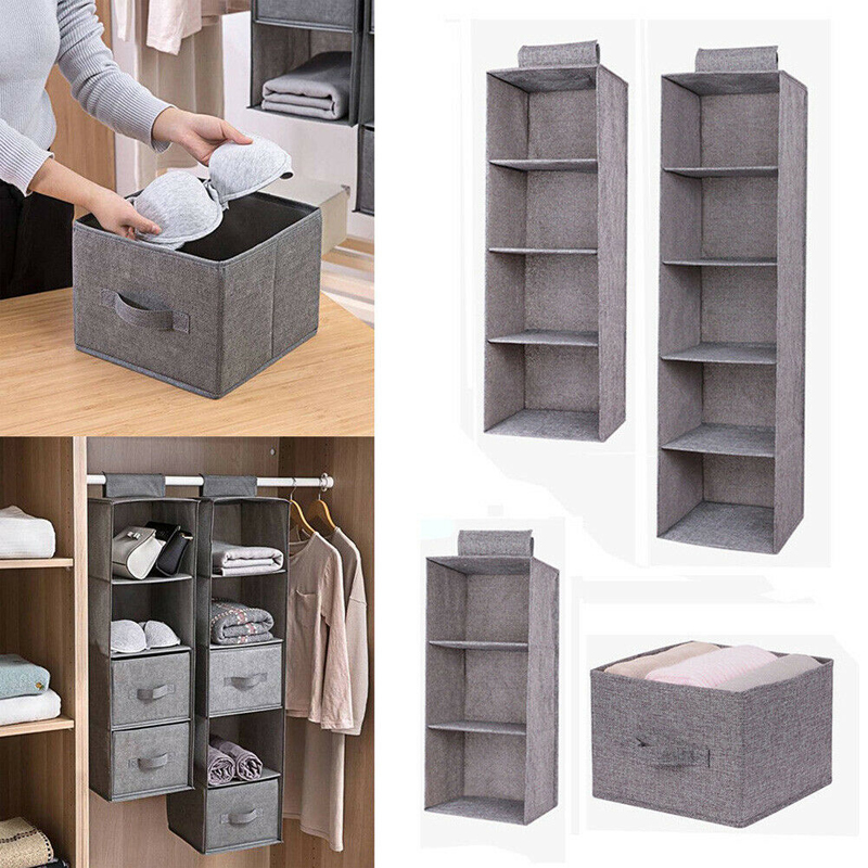 Wardrobe Hanging Storage Bag Interlayer Drawer Type Clothes Hangers Holder Portable Organizer Hanging Closet Organizer New