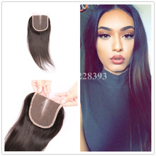 Middle/Free/Three Part Lace Closures Brazilian Hair Straight Swiss Lace With Baby Hair