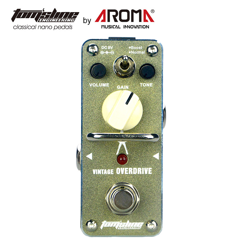Tom'sline AGR-3S Overdrive Boost Pedal Guitar Effect Signature By Hands Without Shadows Michael Angelo Warm And Natural Sound