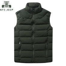 2018 Warm Vest Men Casual Sleeveless Jacket Winter Vest Male Slim Vest Mens Corduroy Patchwork Windproof Warm Waistcoat M-4XL(China)