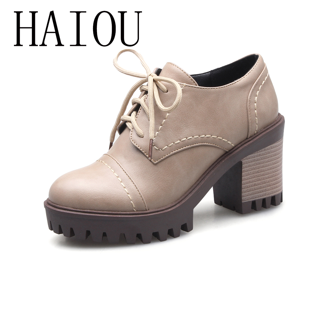 2017  New Fashion Brogue Shoes Woman Black Platform Women Oxfords British Style Creepers Cut-Outs Casual Women Shoes Big Size 43 qmn women crystal embellished natural suede brogue shoes women square toe platform oxfords shoes woman genuine leather flats