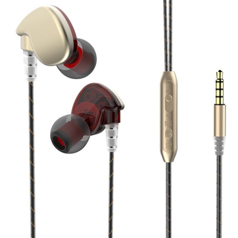 Wired Control Earphones Hi-Fi Sport Running Waterproof Bass Stereo Metal Headphones for Phone Xiaomi Mi Huawei Hot Sale