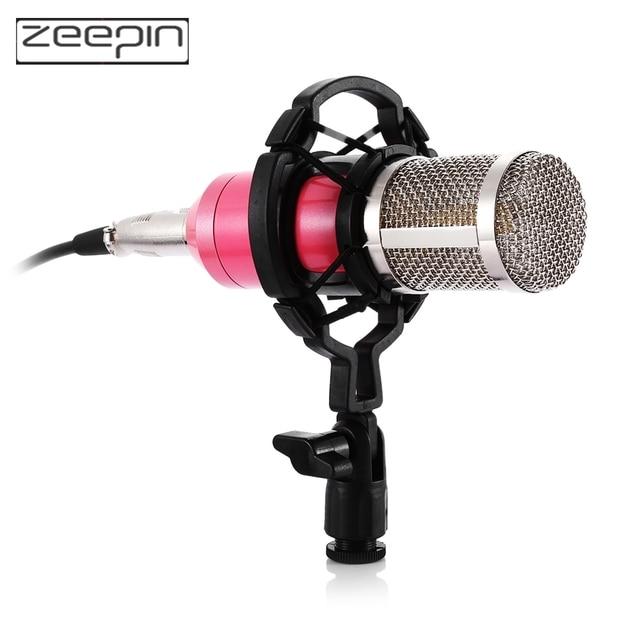 Recording Microphone Condenser Mic kit Sound Studio shock mount for Singing Recording  KTV Karaoke Professional