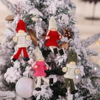 2019 muñeca De decoración navideña niño adornos De niñas colgante Navidad Año nuevo regalo Regalos De Navidad para el hogar