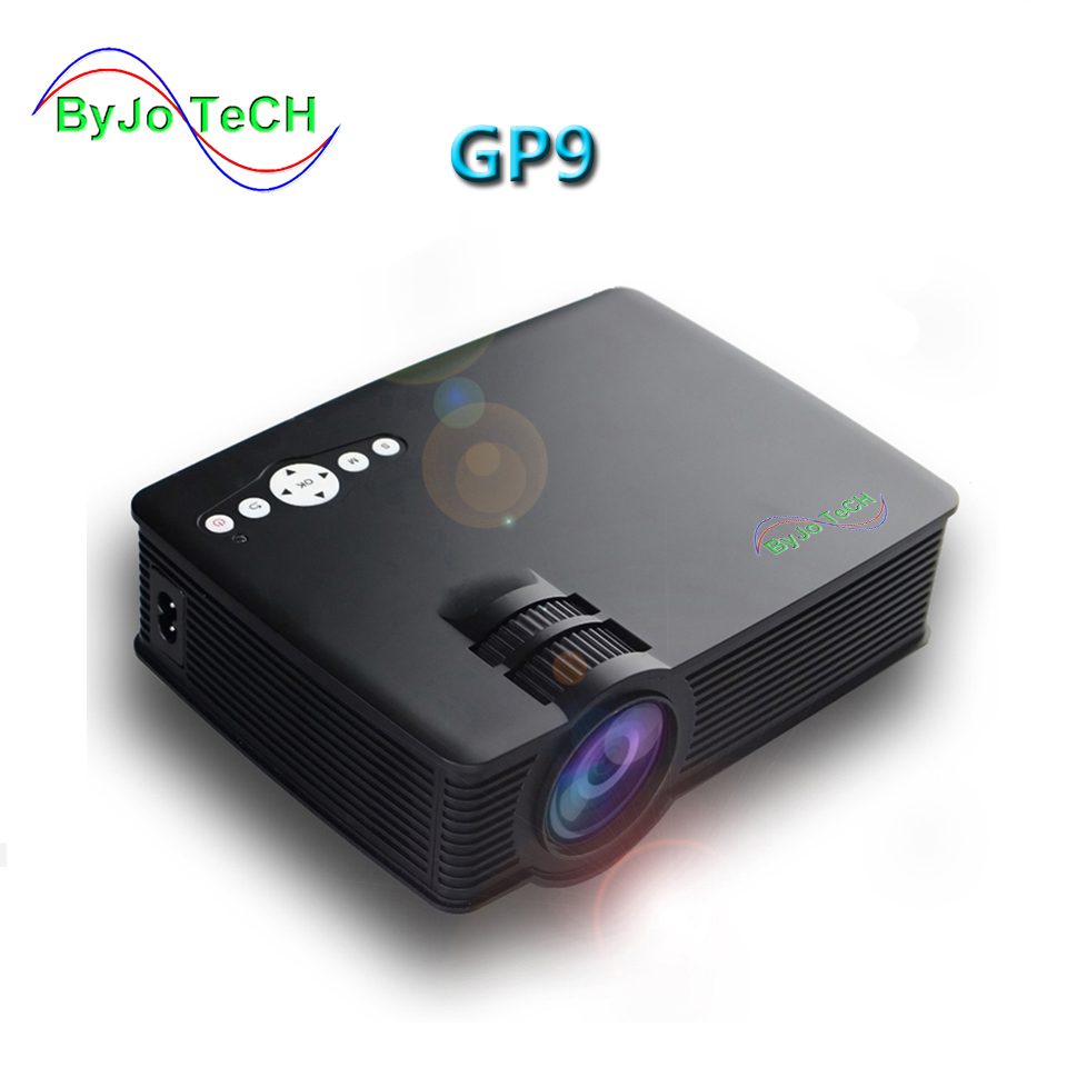 ByJoTeCH GP-9 Projector Mini LED projector Full HD Portable Home theater projector LCD Video proyector HDMI GP9 цена 2017