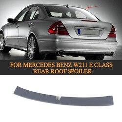 E klasa abs samochód spoiler dachowy skrzydło dla Mercedes Benz W211 2002 2008 niepomalowany szary podkład wing wing wing spoilerwing mercedes -