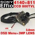 """Novo estilo de 1/3 """"sony ccd effio-e módulo de chip dsp + 811 hd simples 2.8mm lente 3.0mp grande grande angular de menu osd vigilância produtos"""
