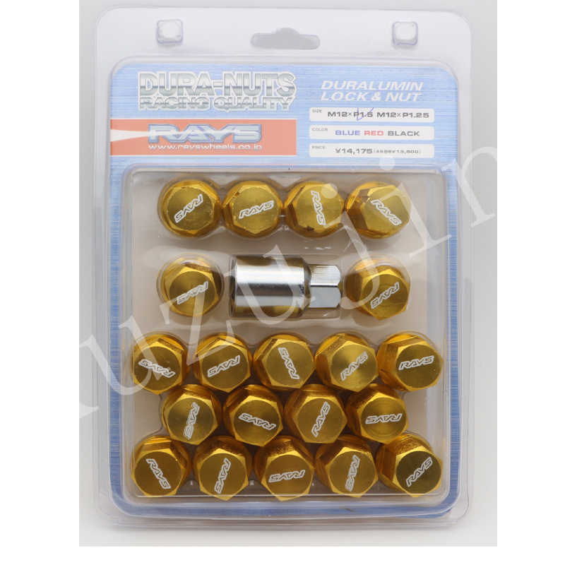 Alloy Aluminum Wheel Lock Nuts Racing Lug Nuts Length 35MM 12x1.5//1.25 XC-LN001 Color Name: Gold, Specifications: M12x1.5
