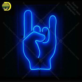 Неоновая вывеска на палец для baddes стеклянная трубка ручной работы неоновый светильник для украшения стены дома пивной Знаковый неоновый св...