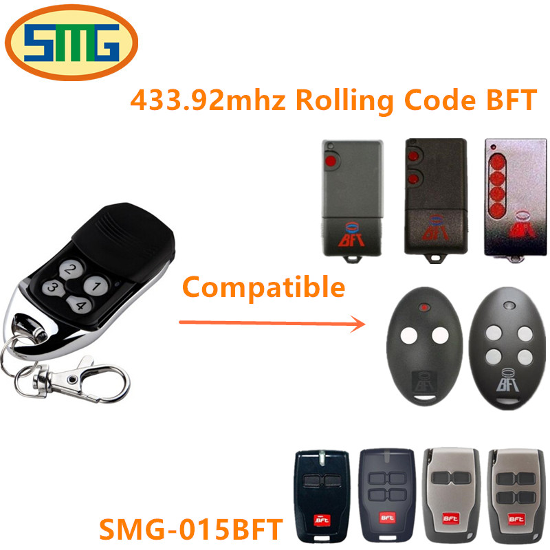 free shipping BFT Mitto 2M 4M 433.92mhz Rolling Code Garage Door Compatible Modern Remote Control