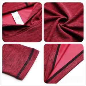 Image 5 - FLORATA 새로운 트렌디 한 가을 남성 T 셔츠 캐주얼 긴 소매 슬림 남성 기본 탑스 티셔츠 스트레치 티셔츠 편안한 후드 티셔츠