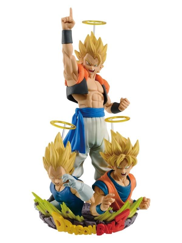 3PCS/SET Original Dragon ball Z SSJ Gogeta Goku &Vegeta PVC Figure Toys Figurals Model Kids Dolls