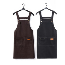 New Hot Fashion Lady Women Men Adjustable Cotton Linen High-grade Kitchen Apron For Cooking Baking Restaurant Pinafore Barbers