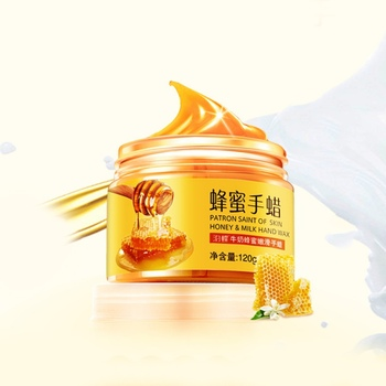 นมน้ำผึ้งขี้ผึ้งพาราฟินมือ Hand Care Moisturizing Whitening Skin Care Exfoliating Calluses Hand ฟิล์มครีม SG14