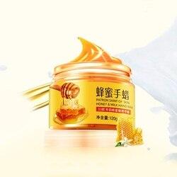 Mleko mleko parafina wosk rąk maska pielęgnacja dłoni nawilżający wybielanie pielęgnacji skóry złuszczający modzele ręcznie Film krem do rąk SG14| |   -