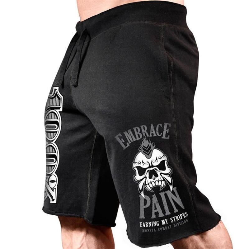 Summer Sports Style Men Short Pants Pocket Casual Jogging Trousers Shorts Jogger Plain Color Drawstring Gyms Shorts Streetwear