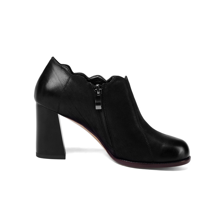 Chaussures Haute Rouge Pompes Slip Véritable Talons wine Black Sur Mljuese Lady Automne Couleur Printemps Femmes 2018 Red Cuir qw4601Px