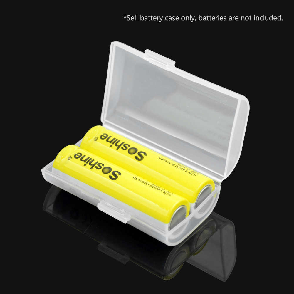 קשה פלסטיק מקרה מחזיק תיבת אחסון כיסוי עבור 2x 4x 8x AA AAA סוללה תיבת מכולות תיק מקרה ארגונית Box מקרה עם קליפים