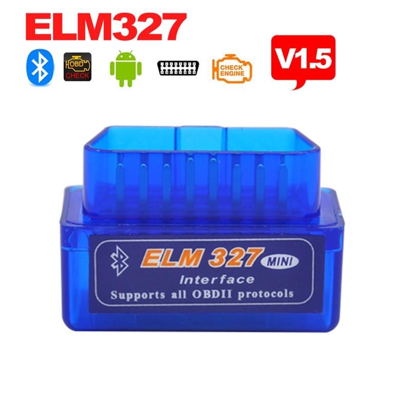 Prix pour Haute qualité Mini elm327 v2.1 OBD2 Bluetooth Auto Scanner OBDII 2 Voitures ELM 327 Testeur Outil De Diagnostic pour Android Windows Symbian