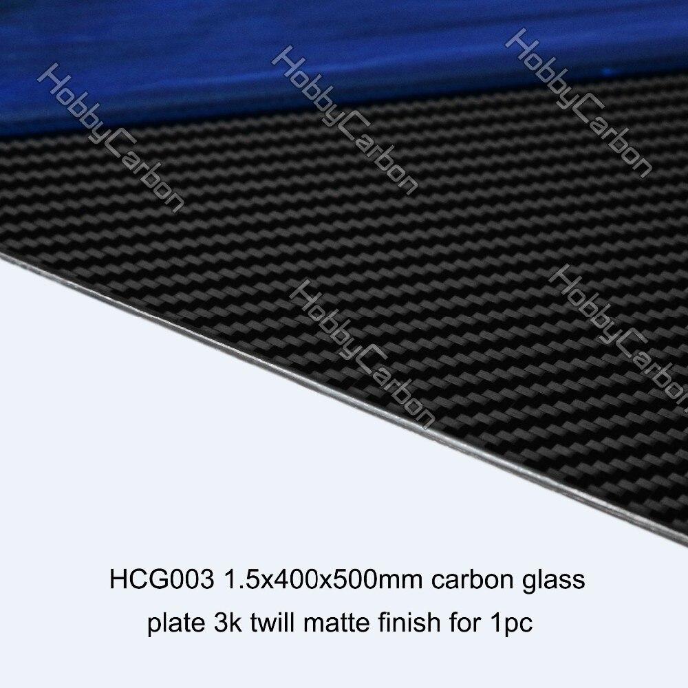 10pcs 1.5X400X500mm 3k twill matte Carbon Glass Plates Panels 1sheet matte surface 3k 100% carbon fiber plate sheet 2mm thickness