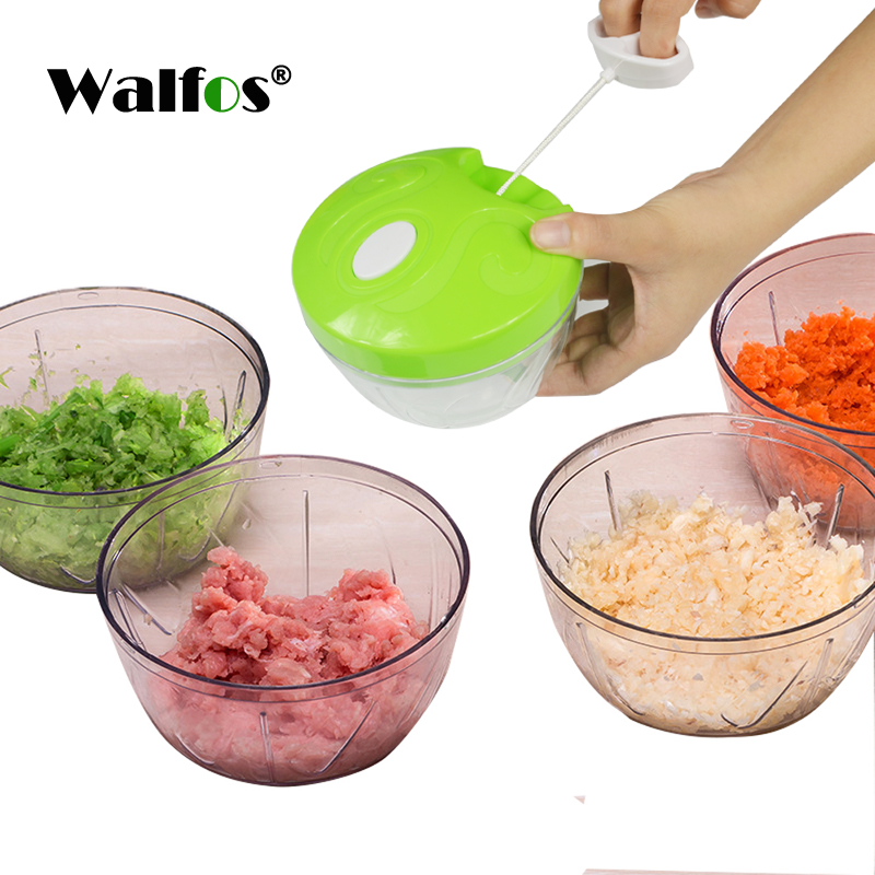 WALFOS Multifunction Vegetable Chopper Cutter Onion Hand Speedy Chopper Vegetable Fruits Chopped Shredders & Slicers
