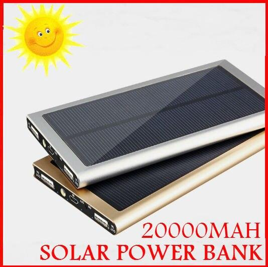 Customized Logo 20000mah Ultra Thin Super Slim Matal Solar