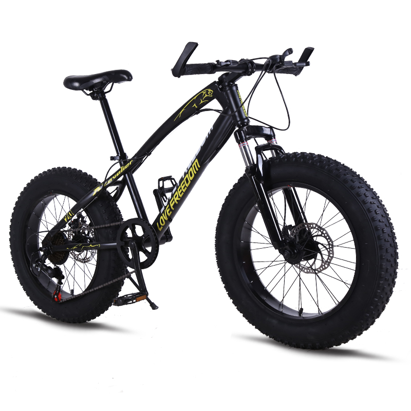 Bicycle Mountain bikes 21speed Fat Road Snow bike 20 4 0folding Bicycles Front and Rear Mechanical