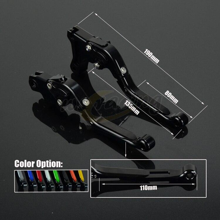 CNC Adjustable Motorcycle Billet Foldable Pivot Extendable Clutch & Brake Lever For TRIUMPH 675 STREET TRIPLE DAYTONA 600 650 cnc adjustable motorcycle billet foldable pivot extendable clutch