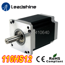 Free Shipping GENUINE Leadshine 110HS12 Phase NEMA 42 Hybrid Stepper Motor with 12 N.m 6 A length 115 mm shaft 19