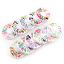 1 Box Mixed Styles 3D Mix Shapes DIY Designs Slice Nail Art decoration Manicure Tips Women Beauty