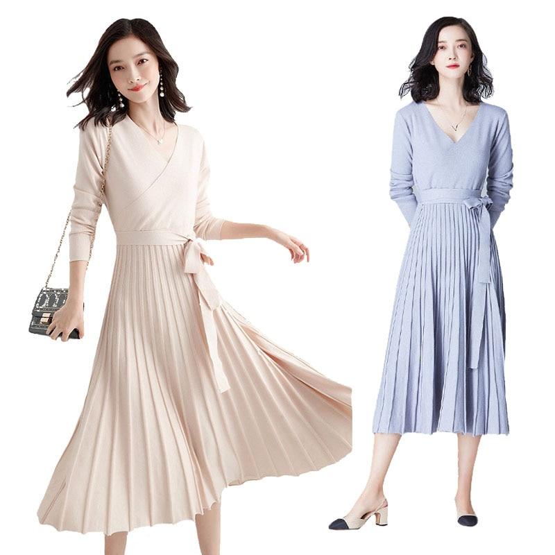f25816112d09f Pliss-e-Pull-En-Cachemire-Robe-Femmes-de-Croix-D-hiver-Chaud-Long-Pull-Robes -Rose.jpg