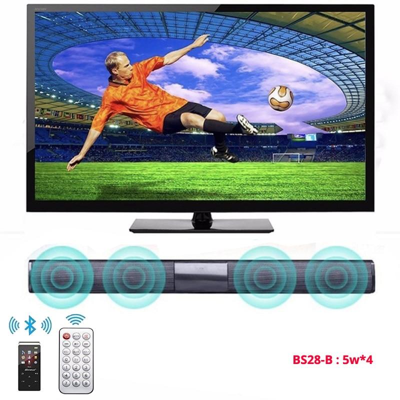 20W TV Soundbar Bluetooth Speaker FM Radio Home Theater System Portable Wireless Subwoofer Bass MP3 Music Boombox For Xiaomi