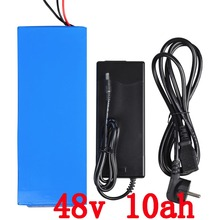 Wholesale 5pcs/Lot 48V attery 48V 10AH electric bike Battery 48V 10AH 750W with 20A BMS and 54.6V 2A charger free shipping