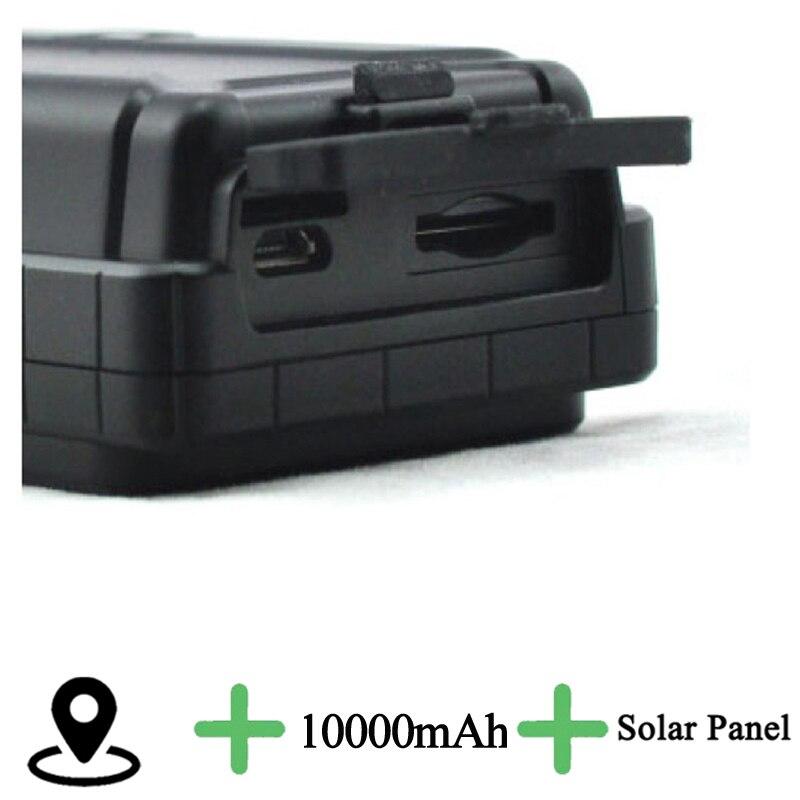 Solar panels GPS Tracker Locator 10000mAh Long Battery Life Waterproof Collar cut alert to inform owner