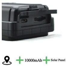 Paneles Solar GPS Tracker Localizador 10000 mAh Batería de Larga Duración A Prueba de agua cuello de corte de alerta para informar al propietario una vez que el cuello es corte