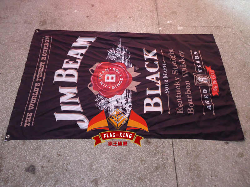 JIM-beam wine  flag,liquor banner,free shipping ,90X150CM size,100% polyster,vintage wine flag