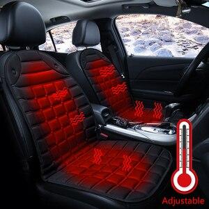 Image 1 - חם חשמלי מחומם רכב כרית 12V מחומם יחיד רכב כרית כיסוי מושב, דוד החורף אוטומטי מושב כרית